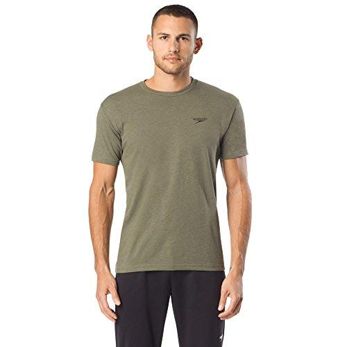 Speedo Dashing Logo Tee, Army, Medium by Speedo
