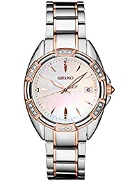 Women's Japanese Quartz Stainless Steel Strap, Two Tone, 0 Casual Watch (Model: SKK878)