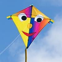 CIM Kinder-Drachen - Happy Eddy Joker - Einleiner Flugdrachen für Kinder ab 3 Jahren - 67x70cm - inkl. 80m Drachenschnur und Schleifenschwanz