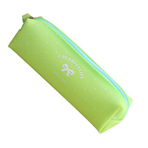 Compia Fresh Cosmetic Makeup Bag Pen Pencil Stationery Case Zipper Pouch Box (Green)