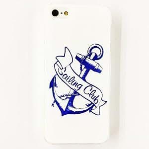 Modelo del ancla marina Caso suave de TPU para el iPhone 5/5S , Multicolor