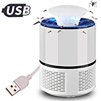 Electric Mosquito Killer Lamp LED Bug Zapper Anti Mosquito Insect Trap Lamp for Home Living Room Pest Control (Color : White)