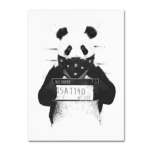 Bad Panda by Balazs Solti, 24x32-Inch Canvas Wall Art from Trademark Fine Art
