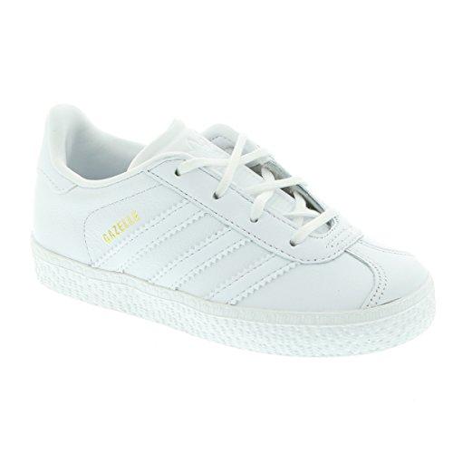 Adidas Gazelle I–Chaussures deportivaspara enfants, Blanc–(Ftwbla/Ftwbla/Ftwbla), 23