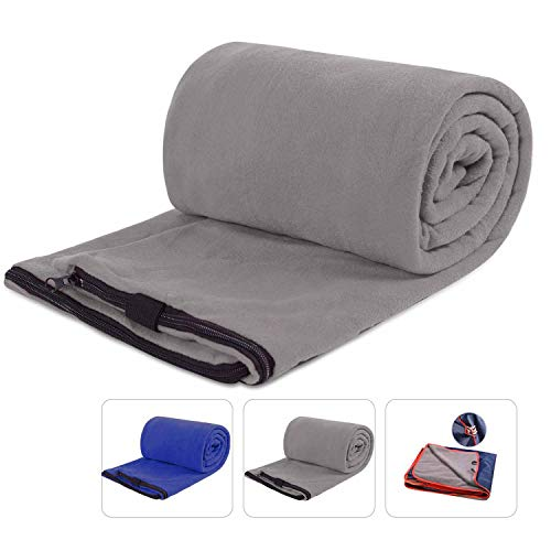 REDCAMP Fleece Sleeping Bag Liner for Adult Warm or Cold Weather, 75