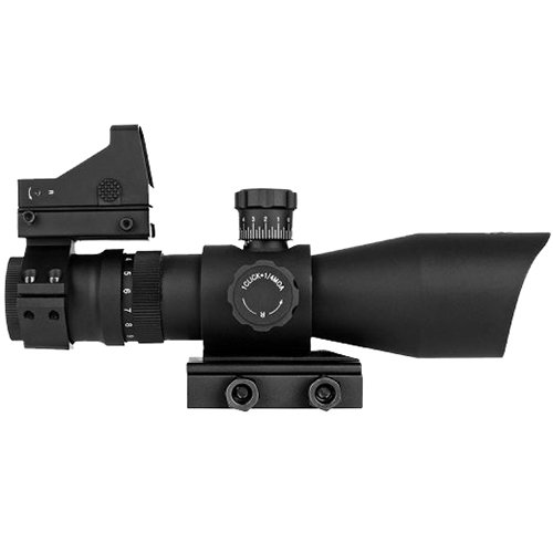 TRINITY FORCE 3-9x42 REDCON (Range Finding Tactical Reticle) Rifle Scope + Backup AIming Red Dot Sight And Integral Mount Fits RUGER SR556 S&W M&P 15-22 Mossberg MMR 715t Springfield Armory Saint