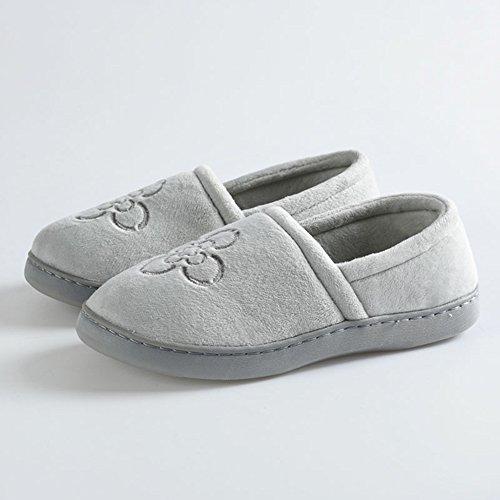 Cómodo Primavera y verano meses de zapatos Paquete con suelas blandas mujeres embarazadas anti-deslizante meses zapatos Agua maternidad postpartum zapatos Zapatillas gruesas de la luna (2 colores opci Gris