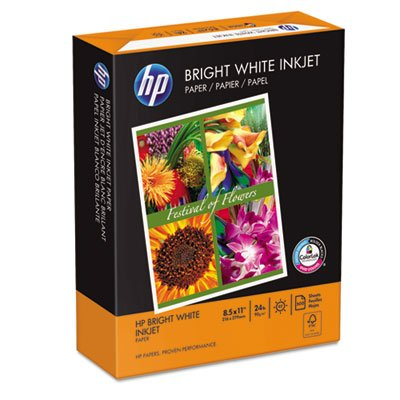 Bright White Inkjet Paper, 97 Brightness, 24lb, 8-1/2 x 11, 500 Sheets/Ream, Total 5 RM by HP (Image #2)
