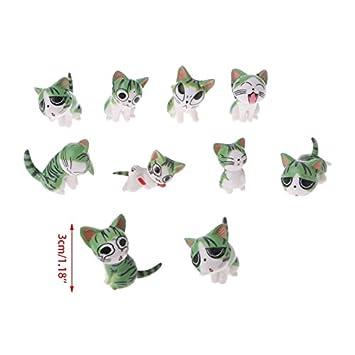 LANDUM Figura Decorativa de Jardín con Diseño de Gatos en Miniatura, Ideal para casa de Muñecas y Jardines, se Envía al Azar: Amazon.es: Hogar