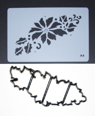 Patchwork Cutters - Xmas STENCIL & CUTTER - Poinsettia Sugarcraft Equipment Tool by Patchwork ()