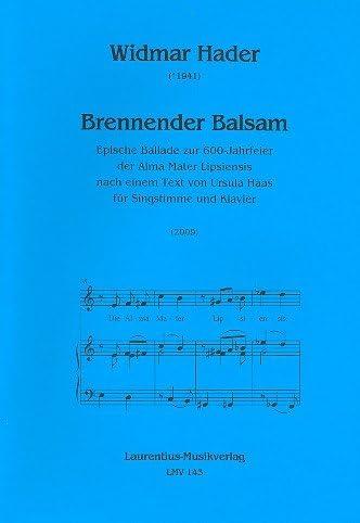 brennender Bálsamo: para canto y Piano: Amazon.es ...