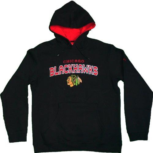 Chicago Blackhawks Playbook Fleece Hoodie by Reebok Select Size: Large