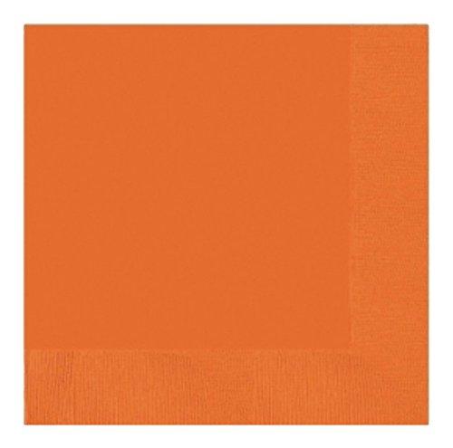 amscan Orange Beverage Napkins 25cm 2ply