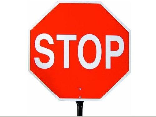Bon 14-985 18-Inch Traffic Control Paddle Sign