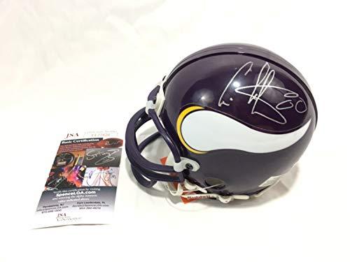 Cris Carter Autographed Signed Vikings Mini Helmet Memorabilia JSA Vintage Signature
