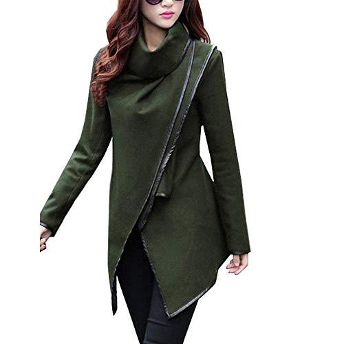 Casual Filles Irrégulier Élégant Châle De Femmes Fête Poncho Col Manteau Mode Survêtement Printemps Automne Oliv Longue Manches Veste Asymétrique de Style PC6HxqnCw