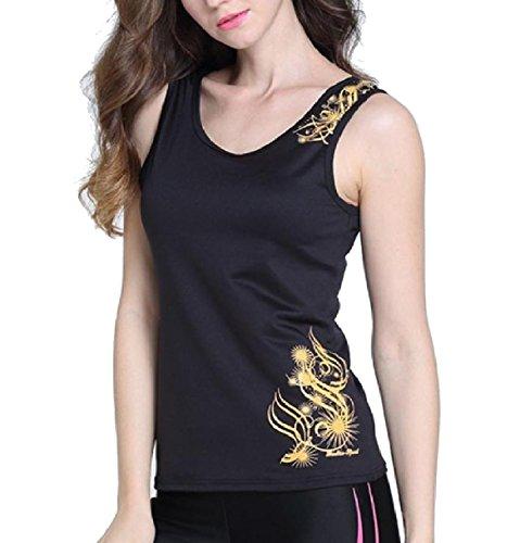 品不名誉な注入Tootess 婦人用クイックドライスポーツ競技のヨガベーシックスリムフィットタンクトップシャツ