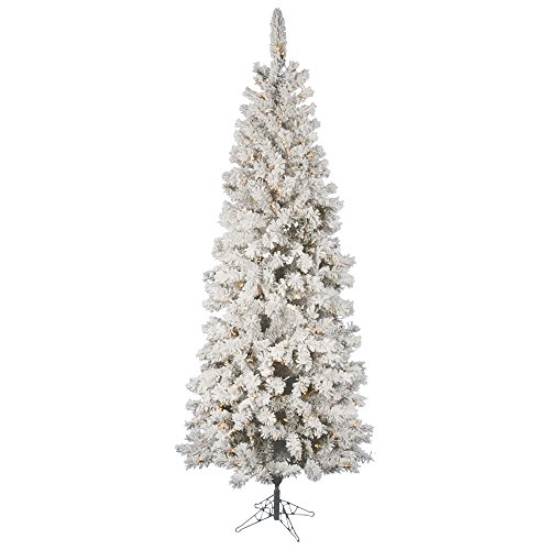 Vickerman 85' Flocked Pacific Artificial Christmas Tree with 500 Clear Lights