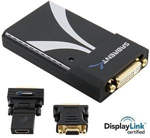 Sabrent UGA-2K-195 USB 2.0 to VGA/DVI/HDMI Adapter for Multiple Monitors up to 2048x1152 / 1920x1080 Each (DisplayLink DL-195 Chipset)