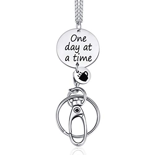 Crimmy Fashion ID Necklace Lanyards for Women, Super Strong Badge Holder and Keychain, Women's Inspirational Gifts (one Day)