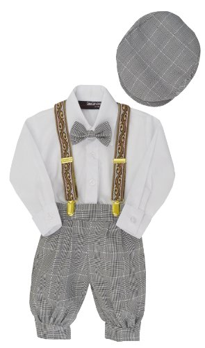 G284 Boys Vintage Knickers Outfit Suspenders (Large/12-18 Months, (Boys Knicker)