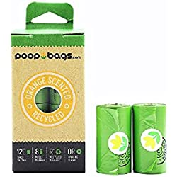 The Original Poop Bags Dog Waste Bags, Orange Scented, Green