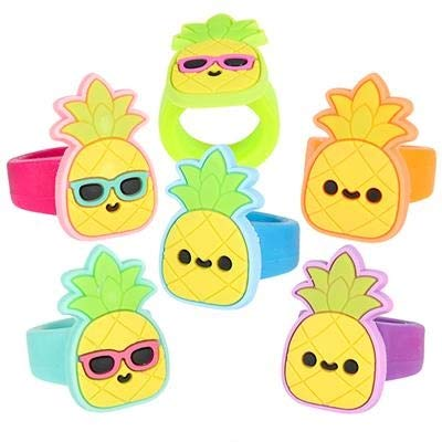 - 36 (3 Dozen) Colorful Pineapple 1.25