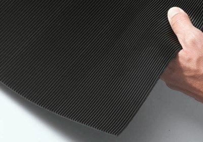 - Corrugated Vinyl Runner Mat, 1/8