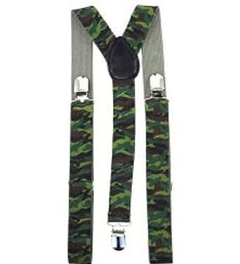 Tirantes de camuflaje - Tirantes Elegantes y prácticos en estilo militar de camuflaje verde
