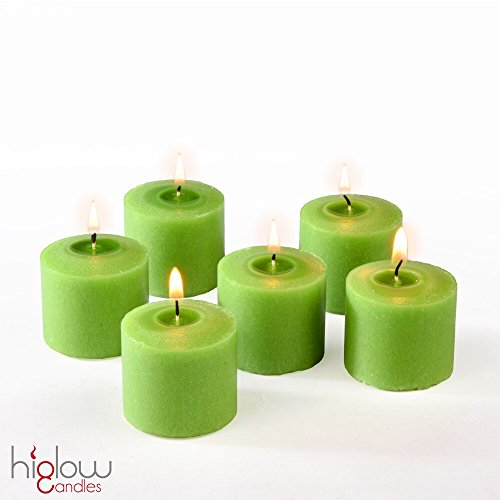 Votive Candle, Citronella Scented Lime Green Wax, Box of 12, for Wedding, Birthday, Holiday & Home Decoration (10 Hour) Mesquite Repellent