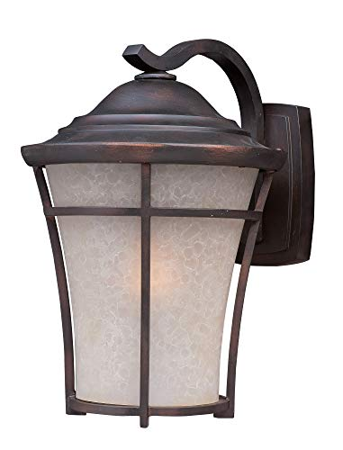 Maxim Lighting 3804LACO Balboa DC 1-Light Medium Outdoor Wall, CopperOxideFinish,LaceGlass,MBIncandescentIncandescentBulb,20WMax.,DrySafetyRating,2900KColorTemp,StandardDimmable,ShadeMaterial,900RatedLumens