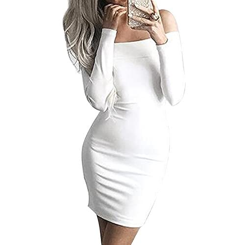 80off Allegrace Women Sexy Long Sleeve Off Shoulder Bodycon Bandage Party Club Dresses