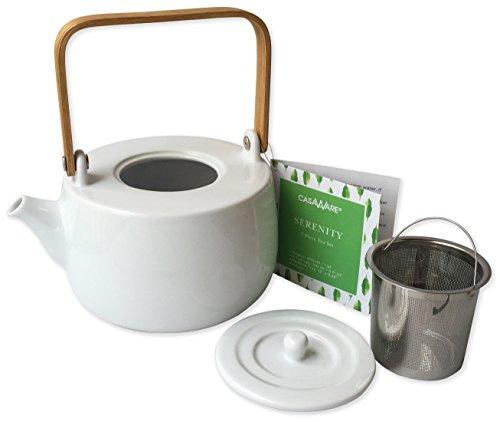 casaWare Serenity 7-Piece Tea Pot Set (White) by casaWare (Image #2)