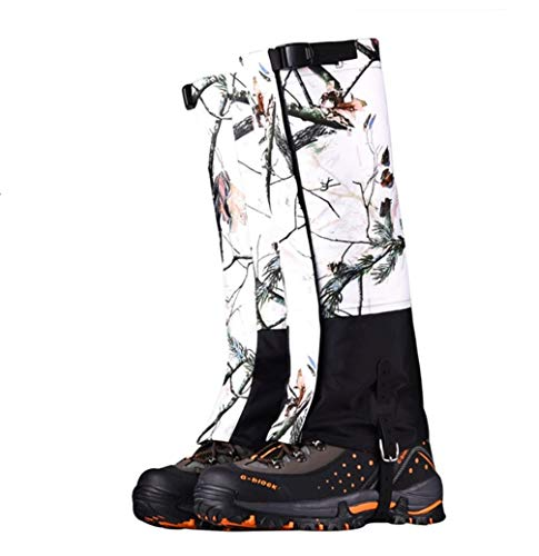 Snow Leg Gaiters Waterproof Snow Boot High Gaiters Snow Camo Legging Warmer Cover for Hiking Ski Hunting Climbing