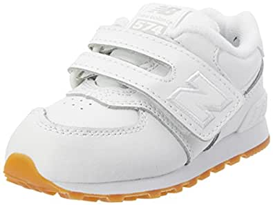 New Balance Baby Boys 574 White Sneakers EU 23.5