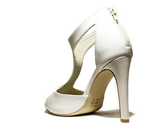FRANCESCO MILANO L210L zapatos de las sandalias del talón, TALÓN DE ALTA, NUEVA COLECCIÓN PRIMAVERA VERANO 2016 cuero beige