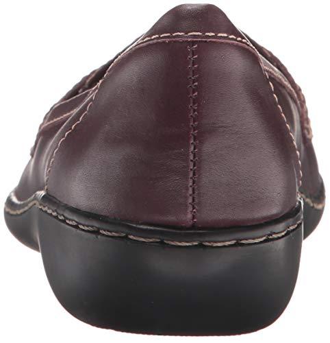 Cuero De Patent Borgoña Mujer Mocasines Frauen Leather Us Clarks burgundy Para 1xUREqqw