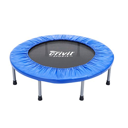 "Seatopia 38"" Fitness Trampoline Bungee Rope System Silent Bounce Cardio Workout Trainer – Fun for Adults & Kids, Max load 220 lbs"
