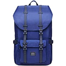 "Laptop Outdoor Backpack, Travel Hiking& Camping Rucksack Pack, Casual Large College School Daypack, Shoulder Book Bags Back Fits 15"" Laptop & Tablets by Kaukko (2Nylon Blue)"