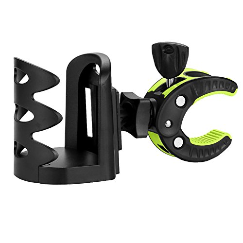 Fully Adjustable Universal Stroller Cup Holder by Accmor, Attachable Drink Holder for Baby Stroller, Bicycle, Wheelchair and Pushchair, Green ()