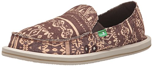 Sanuk Women's Johanna Flat Shoe Brown tortyr8