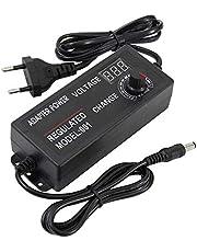 Instelbare netadapter met draaiknop/LED digitaal display, 3V-12V 5A 60W / 9-24V 3A 72W spanning instelbare transformator adapter voor LCD-monitoren/motoren/mini tV/dvd-speler (3-12V 5A 60W)