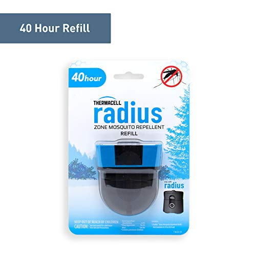 - Radius Zone Mosquito Repellent Refills by Thermacell, 40-Hours; Use with Radius Zone Mosquito Repellent; Fully Sealed Liquid Refill Keeps Insects at Bay; DEET-Free, Scent-Free, No Spray, No Mess