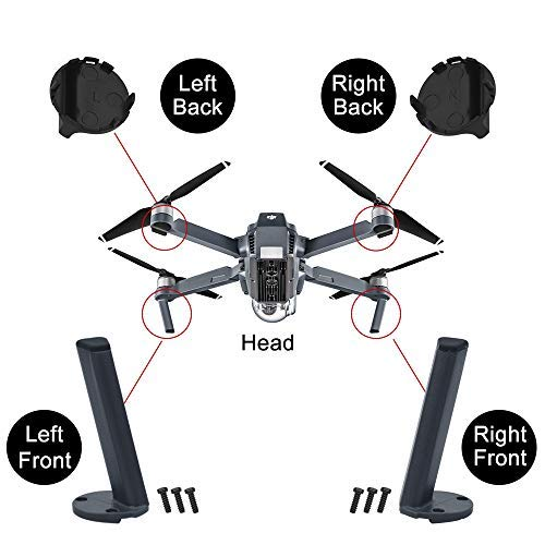 (HeiyRC 4PCS Landing Gear Kits for DJI Mavic pro,Left Right Front Back Legs,Replacement Kits)