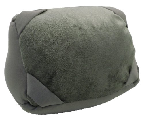 "Price comparison product image AMC(TM) 2-in-1 Convertible U-Shaped Travel Pillow and 10"" iPad / Tablet Stand Stand Grey"