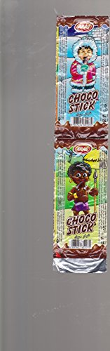 4 different CHOCO STICK from Turkey candy confectionery chocolate foil pack ARAS Mexico Asia Alaska Africa