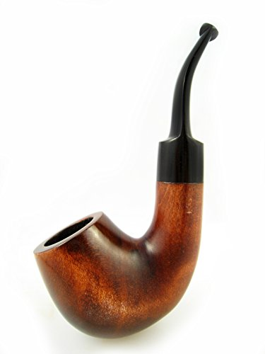 "Brand New – Sherlock Holmes Tobacco Smoking Pipe of Pear Bent 5"" Carving Handmade."