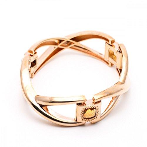 Bracelet Rebecca Bijoux Bronze gold pierres Ambre bcmbra80