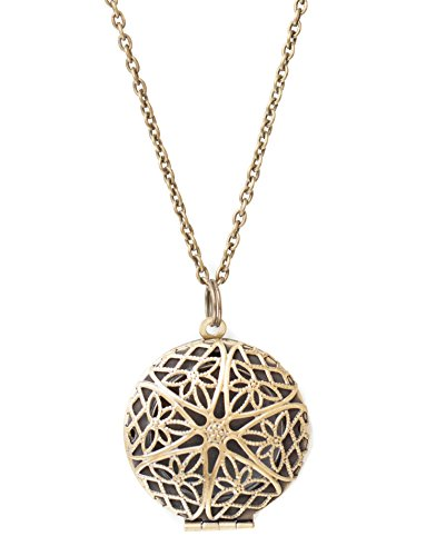 The Oil Collection Essential Oils Diffuser Locket Necklace (Antique Bronze Finish) Aromatherapy