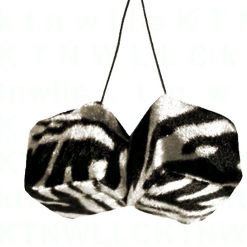 A Pair of Hanging Dice - Zebra White